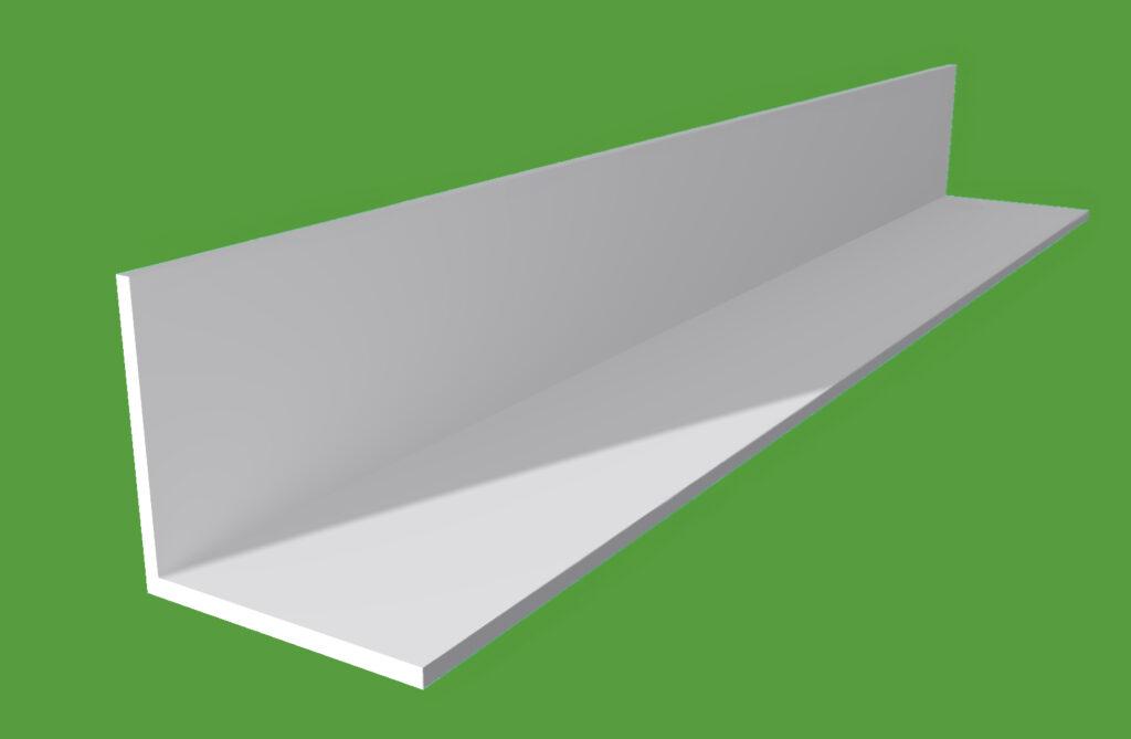 Plastic angle trim white